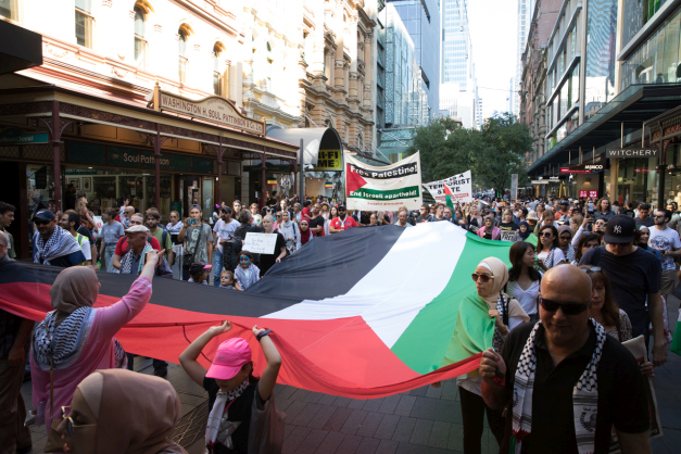 In photos: Solidarity for Palestine in Sydney following deaths in Gaza