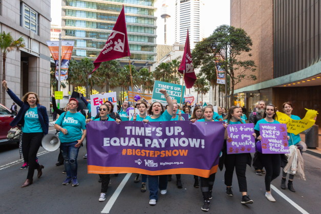 In photos: Childcare workers rally to demand fairer pay